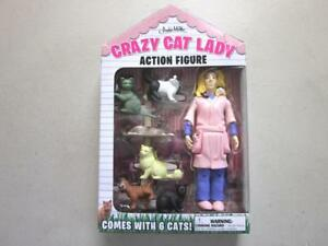 Crazy-Cat-Lady-5-5-034-Action-Figure-avec-6-chats-Accoutrements-NEUF-sous-emballage