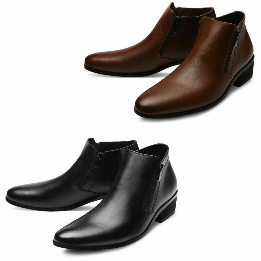 Mooda Mens Genuine Leather Ankle Chelsea Stiefel Formal Dress schuhe Bold