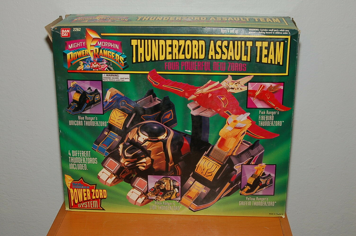 1994 Mighty Morphin Power Rangers Thunderzord Assault Team Complete In Box