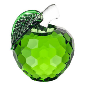 Green-Glaze-Crystal-Apples-Paperweight-Crafts-Decoration