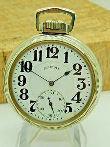 Antique Illinois Pocket watch 16S Serviced 17 jewel grade 605 Stewart Special