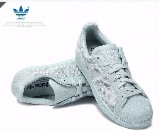 Adidas Originals Superstar formateurs en vapeur Vert-