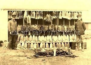 Antique Piégeage Fourrures Repro 8x10 Photographie De Nombreux Muskrat Peaux Peaux-afficher Le Titre D'origine