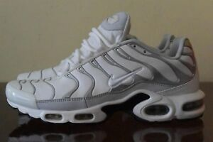Details about Nike Air Max Plus TN 604133 199 White Silver Sz 9