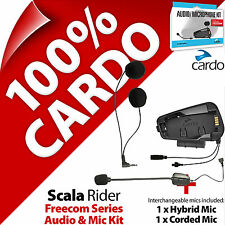 Cardo Scala Rider Audio & Mic Accessory Kit for Freecom 1 2 3 4 Helmet Intercom