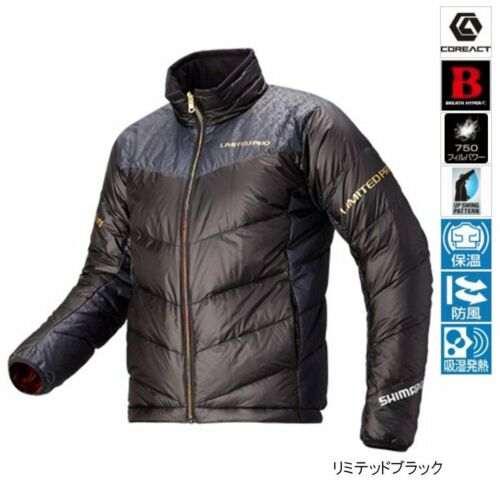 SHIMANO Nexus Down Jacket Limited Pro JA-152Q Limited Black M//L//XL Japan EMS NEW