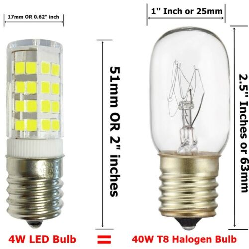 2-Bulbs for GE WB36X10003 40W Microwave Light bulbs E17 Base General Electric
