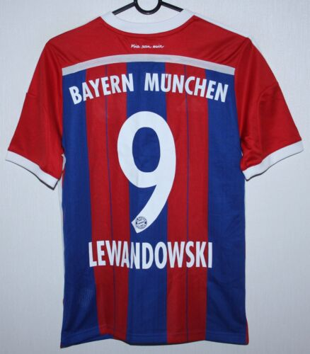 Bayern Munich Germany home shirt 1415 #9 Lewandowski Adidas KIDS XL