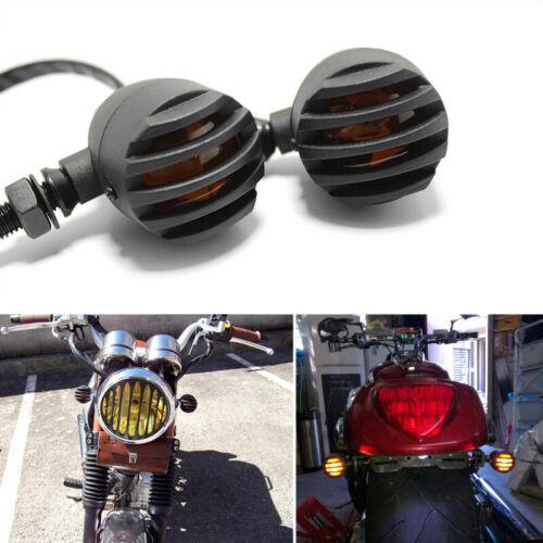 Motorcycle Turn Signals Lights Indicator for Harley Chopper Bobber Cafe Racer US