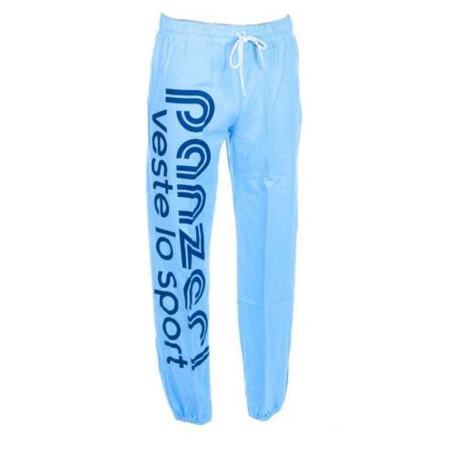 Pantalon de survêtement Panzeri Uni h ciel jersey pant Bleu 60325 Neuf