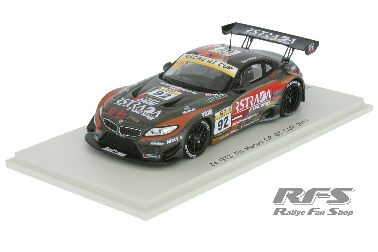 BMW z4 gt3-Macao GP GT Coupe 2014-Marco Wittmann WAV - 1 43 Spark sa073