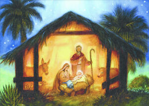 image is loading the nativity randy wollenmann box of 18 religious - Religious Christmas Cards
