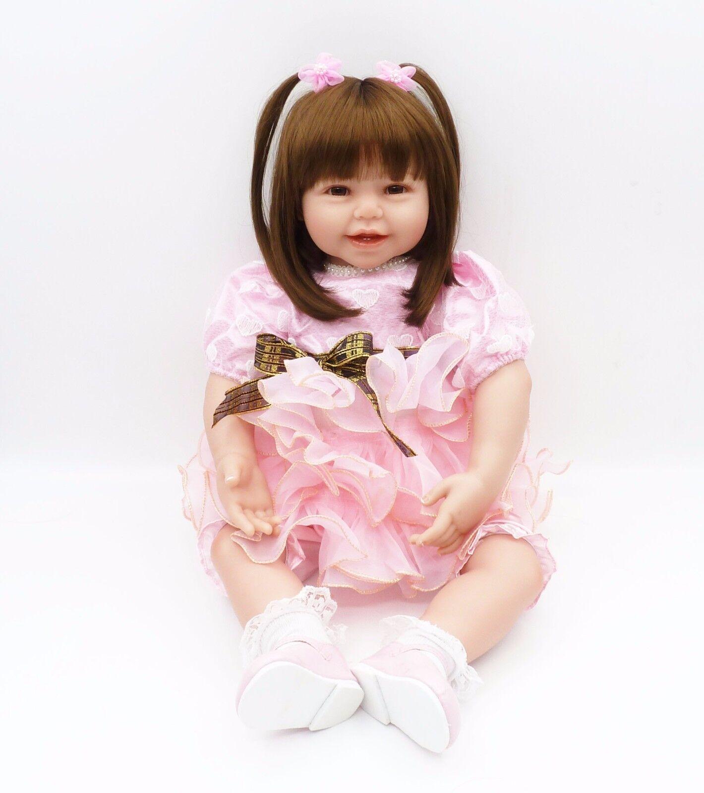 24  realista Reborn Bebé niñas Muñecas Vinilo Suave Silicona maravilloso que vale la pena caliente