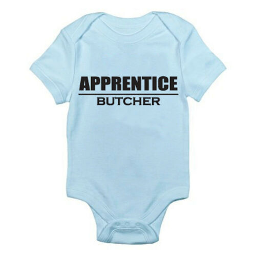 BUTCHER APPRENTICE Pies Meat Carnivore Novelty Themed Baby Grow//Suit