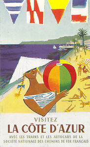 Vintage French Provence Tourism Poster A3//A2//A1 Print