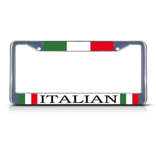 ITALY ITALIAN ITALIANO Chrome Heavy Duty Metal License Plate Frame