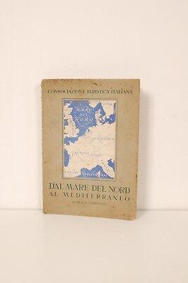 Cartina Fisica Mediterraneo.Cartina Fisica Dal Mare Del Nord Al Mediterraneo C T I 1939 1 1 500000 Ebay
