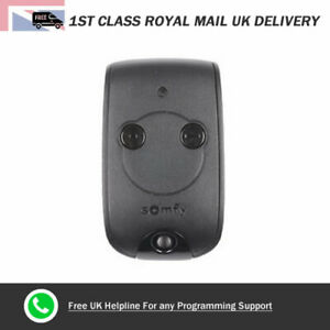 Somfy-Garage-Door-Remote-Control-2-Button-Keyfob-KEYTIS