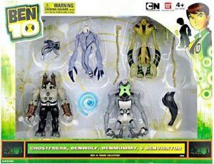 Ben-10-Ghostfreak-Benwolf-Benmummy-amp-Benvicktor-Action-Figure-4-Pack-Damaged