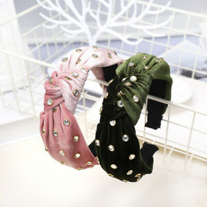 Women-039-s-Velvet-Tie-Headband-Hairband-Twist-Knot-Hair-Bands-Hoop-Accessories