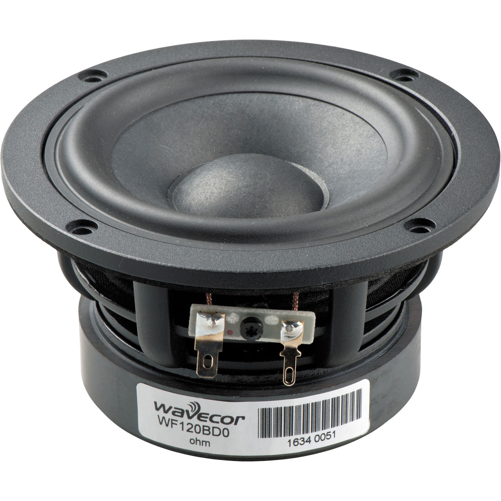 Wavecor WF120BD05 4-3 4  Balanced Drive Paper Glass Fiber Cone Mid-Woofer 4 Ohm