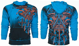 ARCHAIC-by-AFFLICTION-Mens-Hoodie-Sweat-Shirt-Jacket-DAVENTRY-Biker-MMA-78