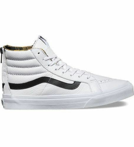 VANS SK8 Hi Slim Slim Slim Zip (Plaid Flannel) True White Black High Top WOMEN'S 10 c65f0f