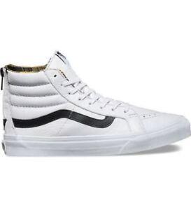 882d70900 VANS SK8 Hi Slim Zip (Plaid Flannel) True White Black High Top ...