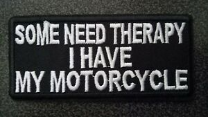 EMBROIDERED PATCH THERAPY MOTORCYCLE VEST HARLEY HELMET TRIUMPH DUCATI HONDA GSX