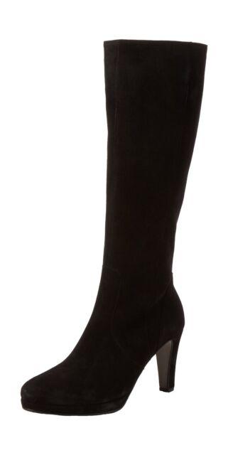 20cfe470970 Women s Gabor Drama Black Suede Long BOOTS Size UK 2.5 eu 35 for ...