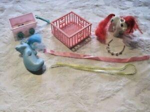 My Little Pony G1 Lot ~ Sea Pony Beachcomber, Baby Pony, Playpen & More 1984