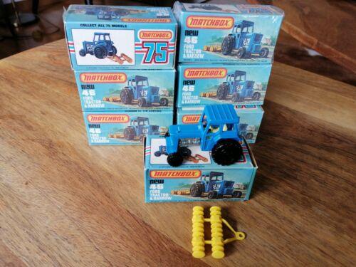 1 x Matchbox Superfast 46 Ford Tractor neuwertig und unbespielt in OVP.