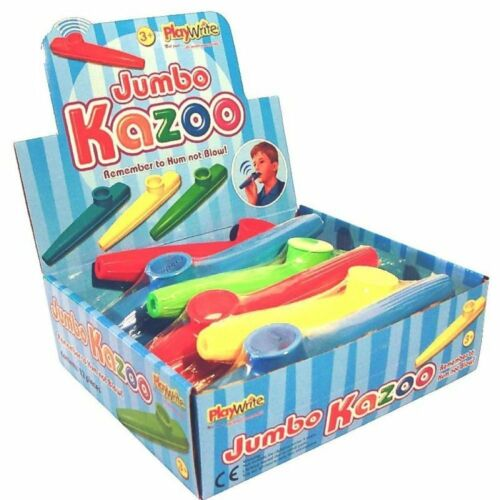 ** NEUF ** 20cm//8ins différentes couleurs 2 x Jumbo Kazoo jouets