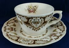 Nikko Ironstone Windsor Brown Double Phoenix Teacup and Saucer