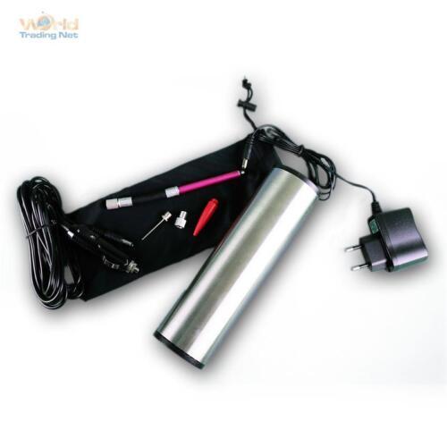 Hochleistungs Luftpumpe mit LiIon Akku KFZ-Adapter Druckeinstellung Display