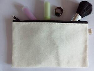 Image Is Loading 15x Eco Blank Canvas Makeup Bag Diy Wash