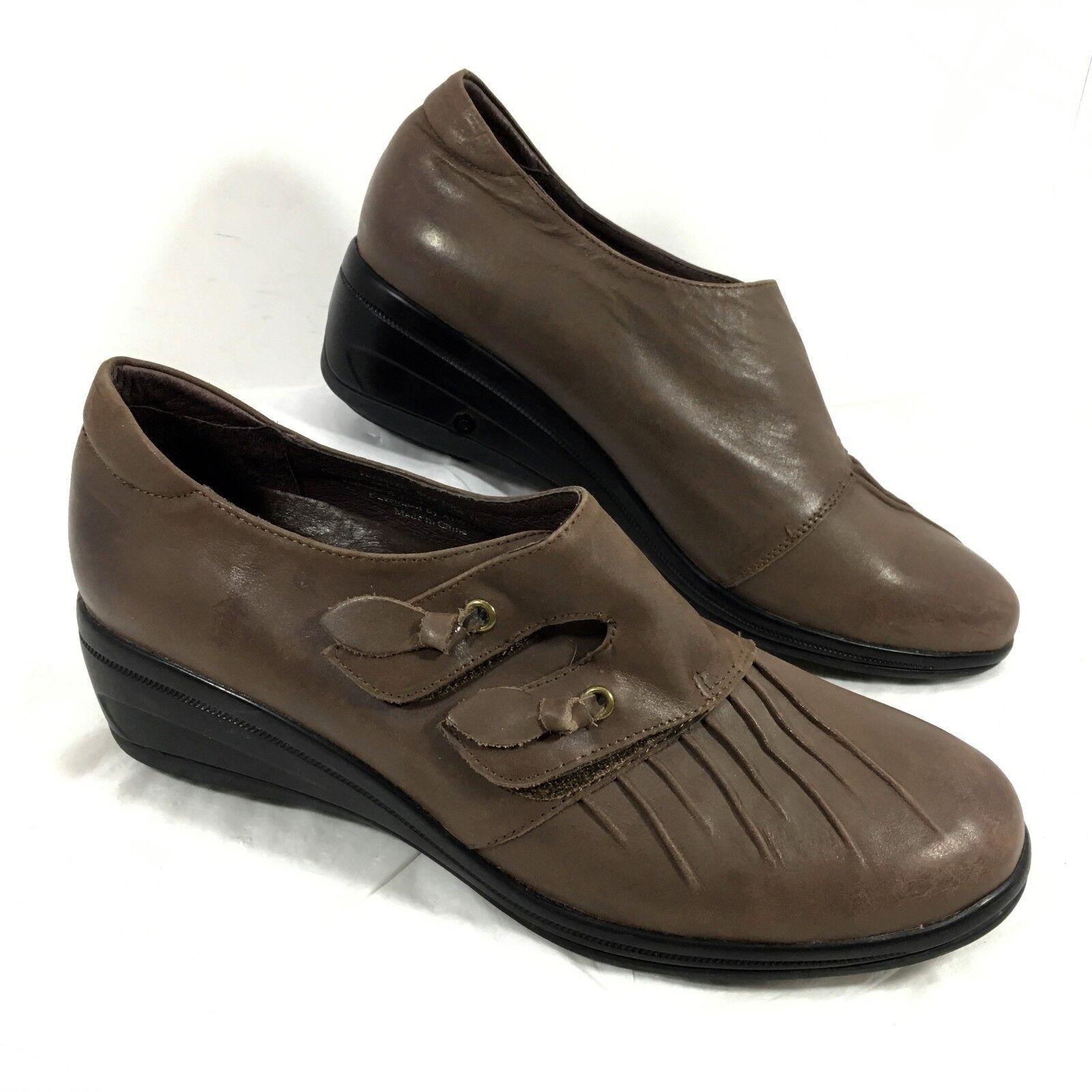 acquista la qualità autentica al 100% Donna  Gravity Defyer Monk Strap Loafers ROMANCY Marrone Marrone Marrone leather Sz 10.5 EUC  Offriamo vari marchi famosi