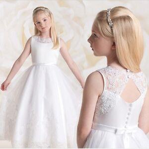 Detalles De Precioso Vestido De Primera Comunión Para Niñas De 8 A 14 Años
