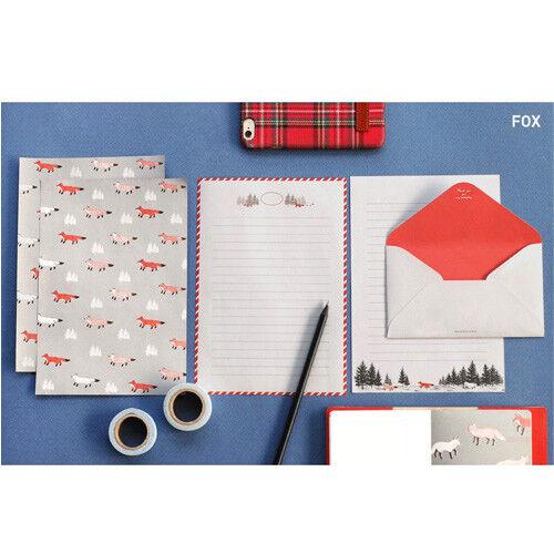8sets Lovely Animal/&Nature Letter set Writing Stationery Paper Envelope Sticker