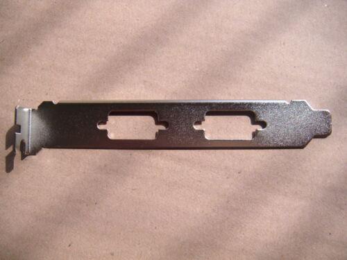 QTY 20 Board Graphics card PCI Dual VGA DB9 Serial Cover Bracket Nickel-plated