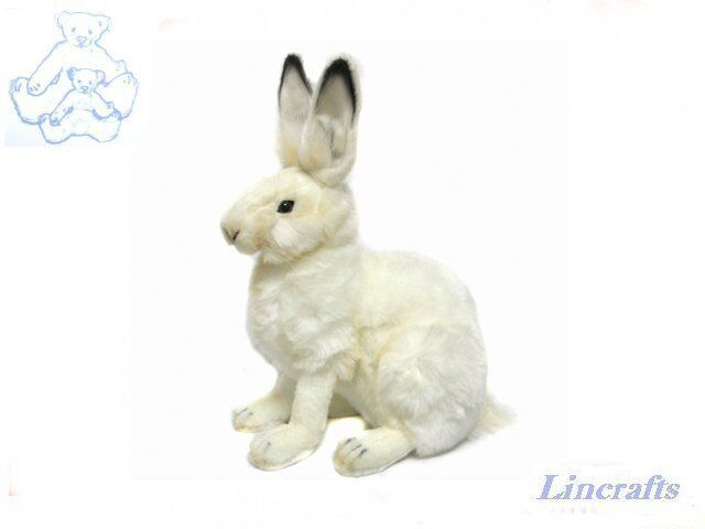 Snow Bunny(Arctic Hare) Plush Soft Toy Weiß Rabbit by Hansa from Lincrafts 4075