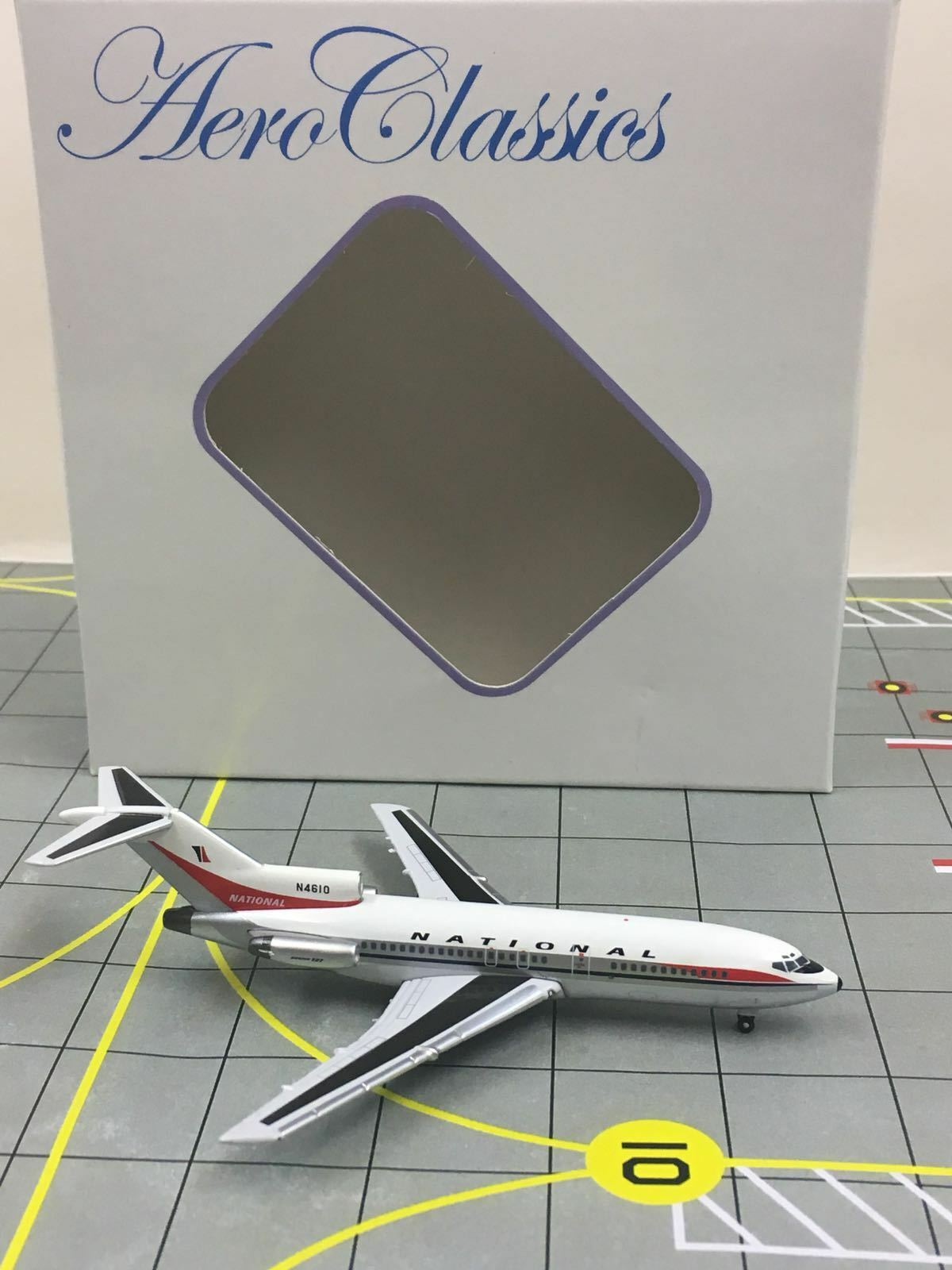 RARE AeroClassics 1 400 National Boeing 727-100 N4610  Jane 1970s color