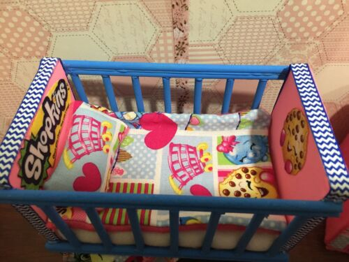 Barbie Baby Nursery Set Furniture Crib,Sofa Carrier.Shopkins