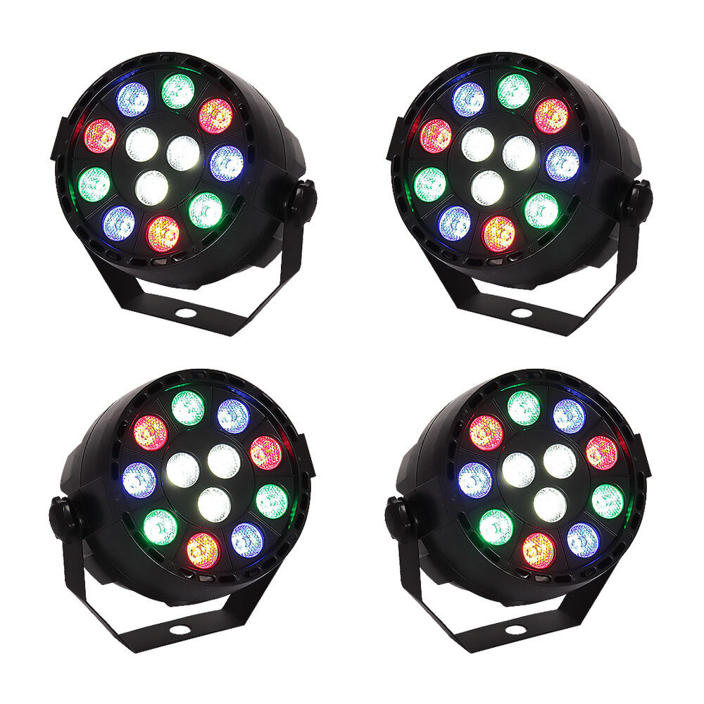 4 x Ibiza Light Mini PAR Can RGBW Lighting Compact Mini Bundle