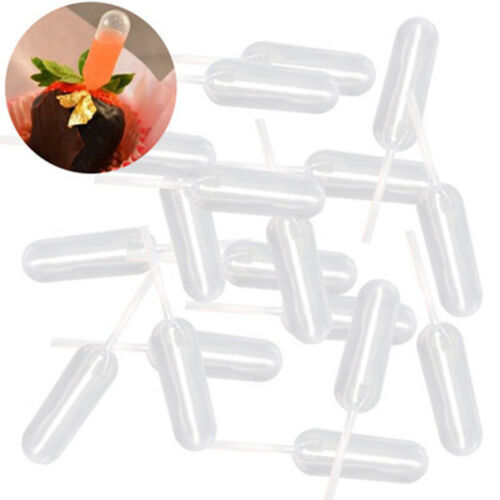 50pcs//pack Ice Cream Milkshake Droppers Disposable Squeeze Pipette for Cake Tool