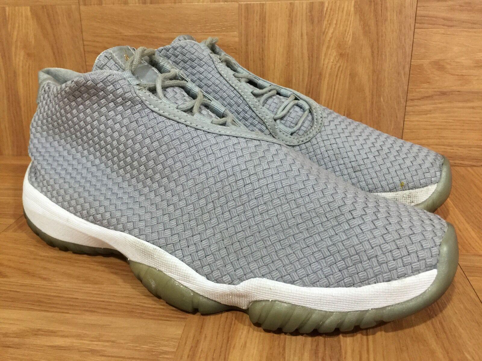 Nike air jordan tessuti rari futuro lupo grigio sz 656503-004 uomini fuori dal campo