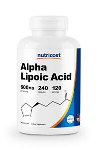 Nutricost Alpha Lipoic Acid - 600mg Per Serving - 240 Capsules