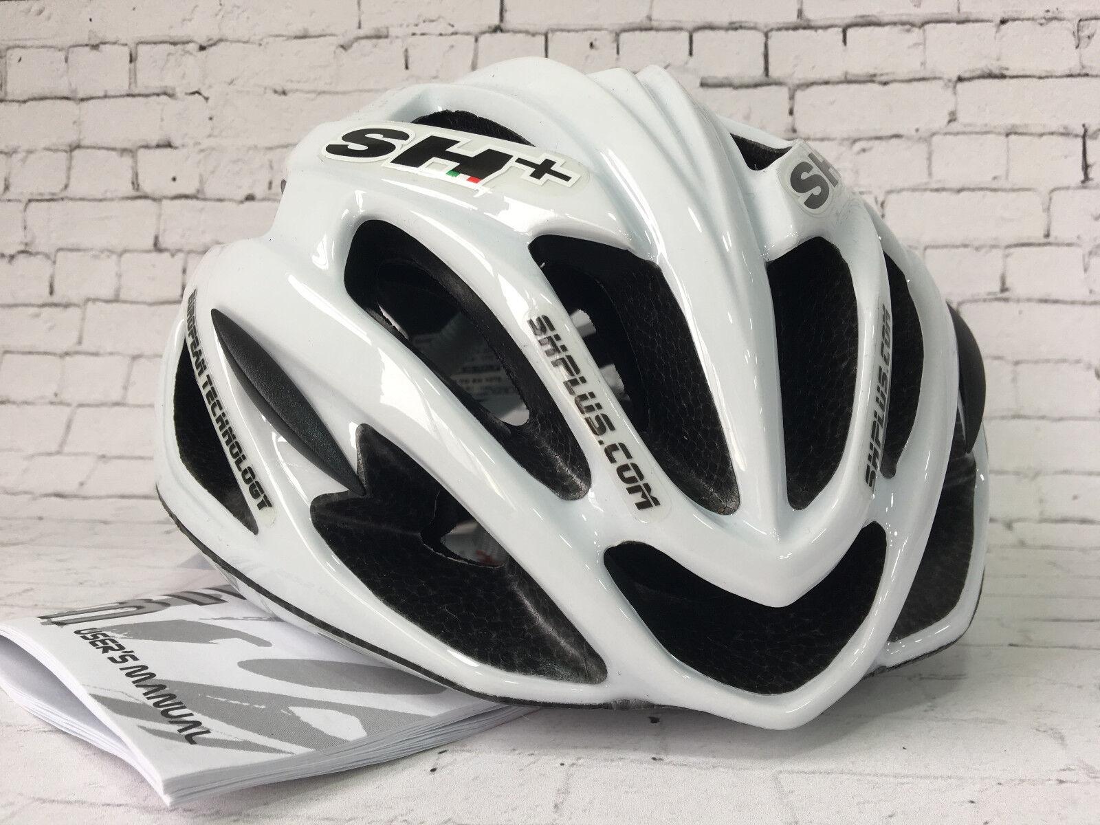 SH + shabli S - 55-60cm (Carretera Ciclismo Casco Line blancoo Brillante)