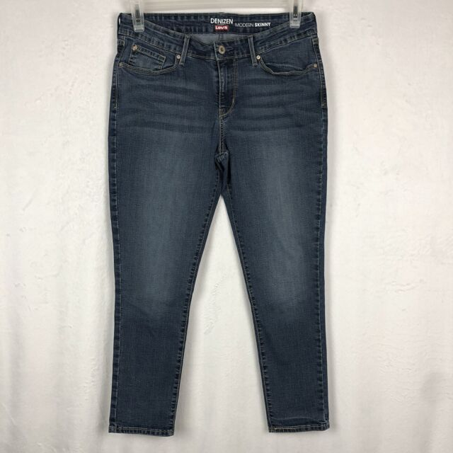 ff9ebc07 Levi's Denizen Modern Skinny Jeans Size 12 Short Medium Blue Denim Stretch