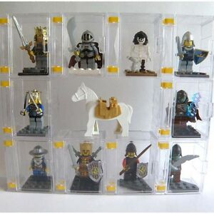 MINIFIGURE-COLLECTOR-039-S-DISPLAY-BOX-CASE-10PCS-with-a-FLIP-DOOR-and-EXPANDABLE